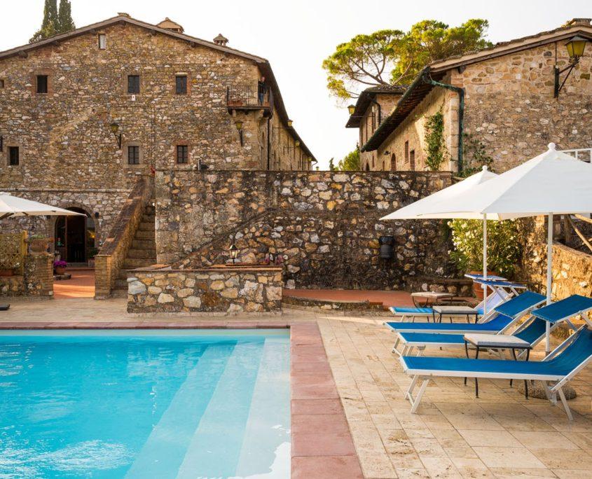 Piscina esterna Borgo Il Poggiaccio | Siena